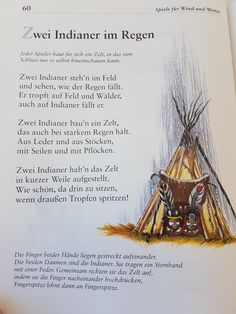 Zwei Indianer im Regen #fingerspiel #krippe #kita #kindergarten  #kind #reim #gedicht #erzieherin #erzieher