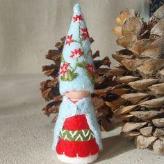Christmas Bush Gnome Elf Ornament Waldorf Inspired Storytelling Nature Table play