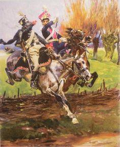 Duello tra lanciere polacco della guardia imperiale francese e ussaro inglese - Wojceich Kossack