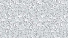 Vector Floral 3d Seamless Pattern on grey background wallpaper hd widescreen high quality desktop 3d , leaves, texture, volume, drop shadow, flower,