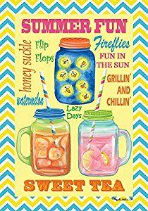 """Summertime Fireflies Summer 28/"""" x 40/"""" Outdoor Decorative House Flag"""