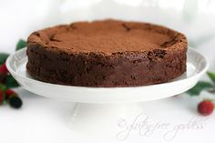 chocolate truffle cake, gluten free! This is a great blog for gluten free recipes of all kinds!