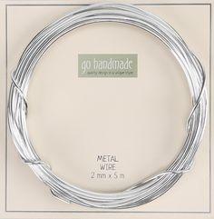 Go handmade Metal Wire / Bonzaitråd Sølv 2mm 5m - Rito.dk