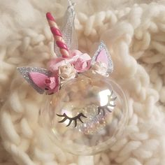 Excited to share the latest addition to my #etsy shop: Unicorn bauble, unicorn ornament, unicorn christmas decoration, personalised gift, unicorn lover present