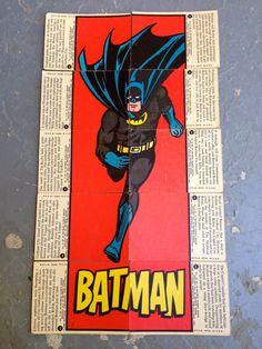 1966 Orignal Batman bubblegum trading cards, the Batman set #1.
