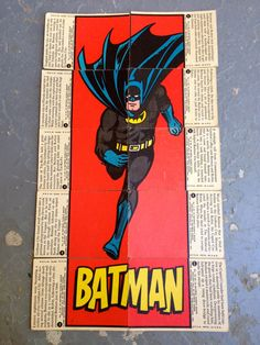1966 Orignal Batman bubblegum trading cards, the Batman set #1.