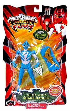 Amazon.com: Power Rangers Jungle Fury Action Figure Jungle Master Shark Ranger: Toys & Games