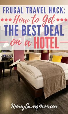 Frugal Travel Hack: This one simple tip will help you get the best deal on a hotel every single time! Best Hotel Deals, Best Hotels, Travel Deals, Travel Tips, Travel Destinations, Travel Europe, Travel Hacks, Travel Rewards, Budget Travel