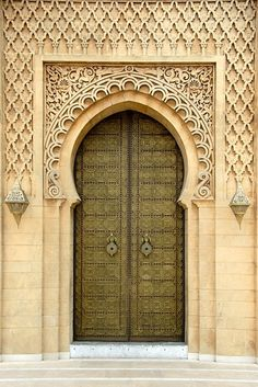 Africa | Door at the Mausoleum Mohammed V.  Rabat, Morocco | © Stefan Auth