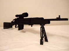 A working Lee Enfield No.5 Mk.1 Jungle Carbine bolt action rifle in LEGO