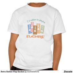 Retro Rather Play Euchre Tshirt