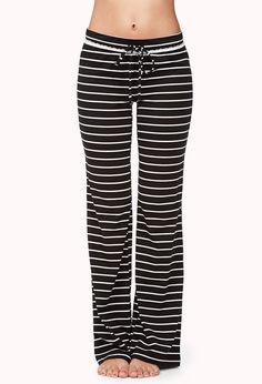 Striped PJ Pants | FOREVER21 - 2054463924