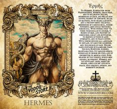The Vodou Store Candle Label - Hermes - Image provided by Jeff Cullen Artistry Ancient Roman Houses, Ancient Art, Tarot Decks, Hermes Tattoo, Pagan Gods, Greek Gods And Goddesses, Great Works Of Art, Powerful Art, Candle Labels