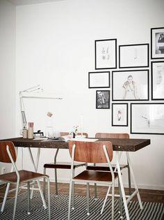 Storgatan 6B   Stadshem Desk Styling, Work Lamp, Minimalist Home, Retro, Simple Designs, Home Office, Shelving, Mid-century Modern, Sweet Home