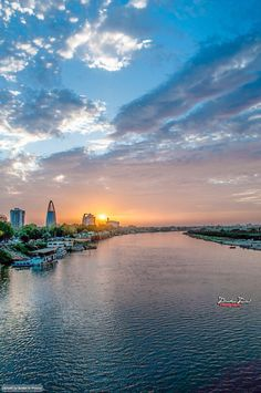Sunset in Khartoum  غروب في الخرطوم  (By Ibrahim Imad)   #sudan #khartoum #nile #sunset