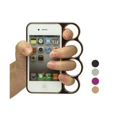#coupdepoingamericain #knuckle #violence #protector #iphone #iphone4 #iphone4s #americanpunch Coque Coup de Poing Américain pour iPhone 4/4S
