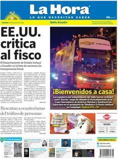 Buenos días estimados lectores.  Iniciamos el fin de semana presentando nuestra portada para #Quito.   Toda la información la encuentra en nuestra página Web: www.lahora.com.ec