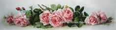 Victorian Rose Prints Gallery : La France Roses Yard Long Print Giclee Antique
