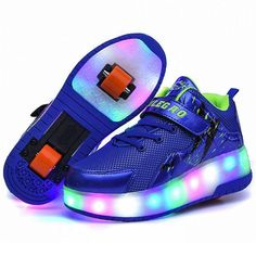 171c7e3cd54 Luminous sneakers led shoes with Wheels christmas lighted shoes tenis Led  Glowing Sneakers