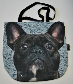 #PerfectChristmasGift Cute durable 3D Handbag with unique Black French Bulldog pattern – Limitless Bags UK