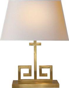 Circa Lighting greek key gold lamp