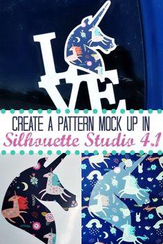 Pattern Mock up in Silhouette Studio