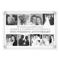 Photo Celebration 50th Wedding Anniversary Invitation