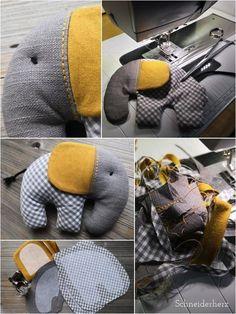 Ellifant - a sugar-sweet soft toy to sew yourself! Ellifant - a sugar-sweet soft toy to sew yourself! LÄCHELN UND WINKEN laechelnuwinken DIY Ellifant - a sugar-sweet soft toy to sew yourself! LÄCHELN UND WINKEN Ellifant - a sugar-sweet soft toy Baby Sewing Projects, Sewing Projects For Beginners, Sewing Hacks, Sewing Tutorials, Sewing Basics, Sewing Patterns Free, Free Sewing, Sewing Toys, Sewing Crafts