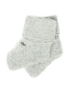 Alpaca Baby Booties - Gray
