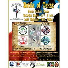Texas Gaelic Football Tournament at Lake Highlands Park Dallas, TX Highlands Park, Highland Park Dallas, Football Tournament, Kids Events, Fitness Inspiration, Texas, San, Texas Travel