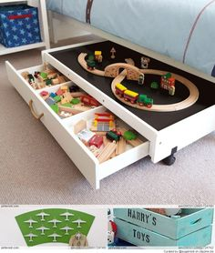 car rug instead of train track and save vehicles in drawers