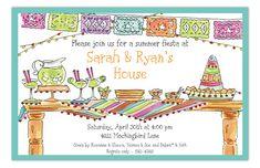 Fiesta Party Table Invitation #Fiesta
