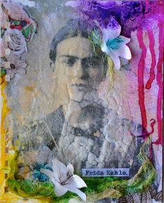 "Semaine 8  sujet: ""Hommage a Frida Khalo"" par http://hellofannyscrap.com/"