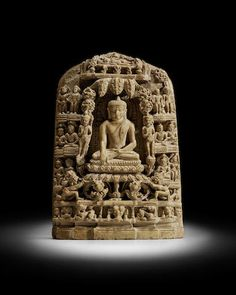 A STONE PLAQUE WITH SCENES FROM THE LIFE OF BUDDHA NORTHEASTERN INDIA, PALA PERIOD, CIRCA 12TH CENTURY
