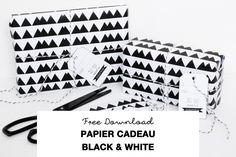 Papier Cadeau Black and White Téléchargeable  Gratuitement / Free Download Black&White Wrapping Paper