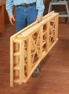 Folding Worktable Woodsmith Plans Designed with common materials this portable work surface holds up under heavy loads Wood Shop Projects, Woodworking Projects Diy, Popular Woodworking, Woodworking Furniture, Woodworking Shop, Diy Furniture, Woodworking Plans, Highland Woodworking, Woodworking Magazines