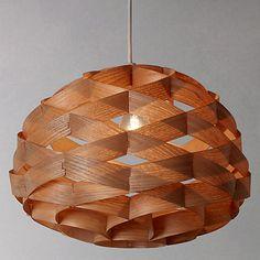 Buy John Lewis Alvin Wood Veneer Ceiling Light Online at johnlewis.com