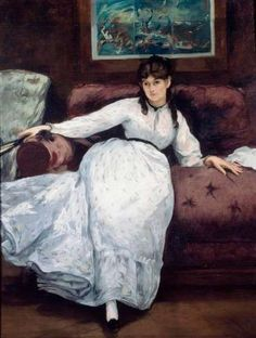 """HowStuffWorks """"Le Repose (Portrait of Berthe Morisot) by Edouard ..."""