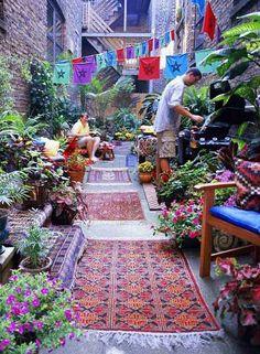 34 Colorful Bohemian Garden Designs to Embrace