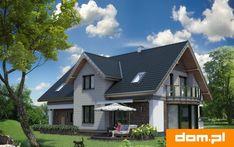DOM.PL™ - Projekt domu AN LAZURYT CE - DOM AO10-37 - gotowy koszt budowy Malm, Home Fashion, Cabin, Teak, Architecture, House Styles, Villas, Home Decor, Arquitetura