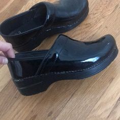 d1ad57751 Shop Women s Dansko Black size 8 Mules   Clogs at a discounted price at  Poshmark. Description  New dansko patent leather nursing clogs worn only  once.