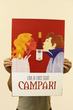 Campari Poster Design by Tianzhen Huang, via Behance, love it!