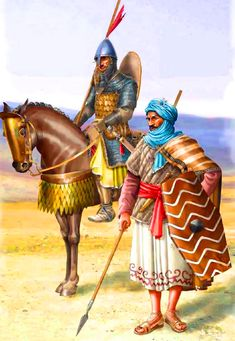 Turkish Ghulams and Kutama Berber infantryman in the service of the Fatimid Caliphate, end of the X century- by Pablo Outeiral Fatimid Caliphate, Ottomans, Byzantine, Troops, Warriors, Muslim, Persian, Islamic, Medieval
