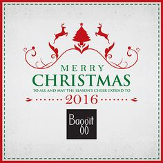 Baggit wishes you and your family a wonderful holiday season and hopes that the New Year is filled with prosperity, hope and peace for everyone. ‪#‎MerryChristmas‬