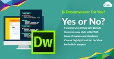 Adobe Dreamweaver is a popular tool for newbie developers. Whether or not it's for production level development is up to you. Have a read of our compilation of Dreamweaver Pros & Cons to see if it's the tool for you.  #CodeClouds #Adobe #Dreamweaver