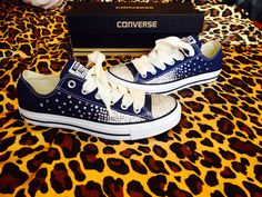 Full Rhinestoned Ombré Converse with Ribbon Laces from ConverseCustomized on Etsy. Rhinestone Converse, Bling Converse, Bling Shoes, Outfits With Converse, Prom Shoes, Converse Sneakers, Wedding Shoes, Wedding Reception, Quinceanera Shoes