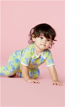 Bedhead Kids Periwinkle Palm Tree Cotton Stretch Pajamas | Living Water Home Spa Shop #bedhead #pjs #baby #infant #palm #luxury #summer
