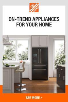 Island Stools, Stools For Kitchen Island, Kitchen Cabinets, Counter Depth Refrigerator, Best Refrigerator, Decor Interior Design, Interior Decorating, Latest Kitchen Designs, New Kitchen
