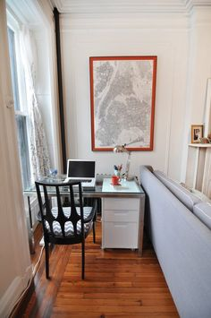 No room? Fit it in by the window. | Sarah & David's Modern and Sophisticated Brooklyn Home