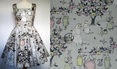 Moomin dress - for sale in my Etsy store - www.etsy.com/uk/shop/Frockasaurus